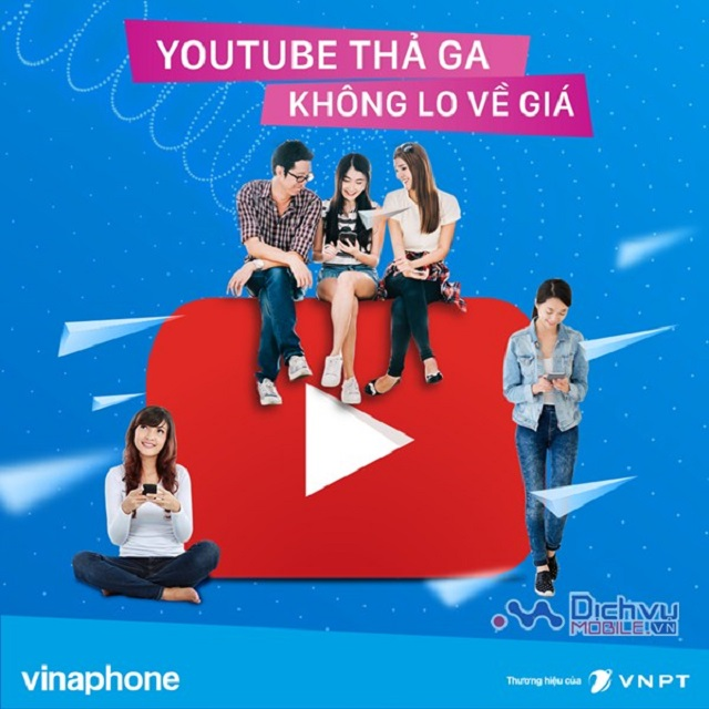 Các gói Youtube Vinaphone chính thức xem phim Online thỏa sức