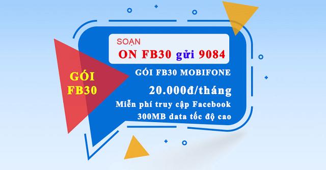 Chi tiết gói cước Facebook FB1, FB30 MobiFone miễn phí DATA