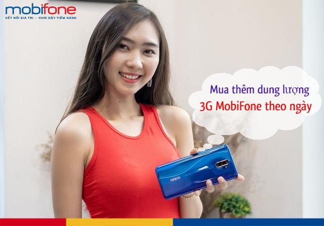 Bạn đã biết cách mua thêm dung lượng 3G Mobi theo ngày chưa?