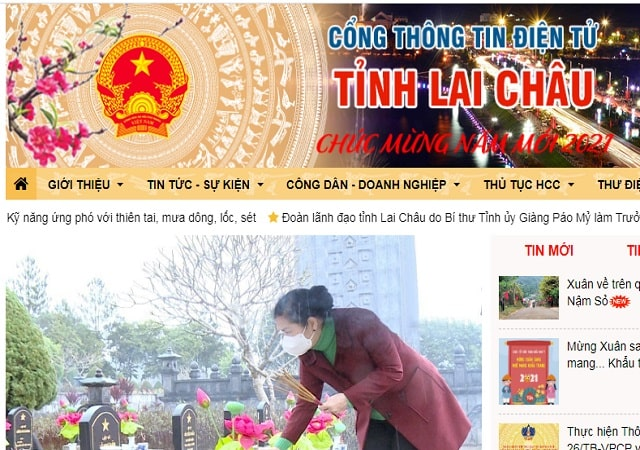 Giới thiệu về cổng thông tin điện tử tỉnh Lai Châu